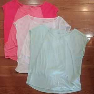 3 AEO Mesh Workout Tops (XS/S)